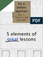 Day 3 - Teach Good Doctrine