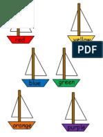Sail Boat File Folder