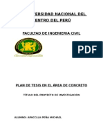 PLAN DE TESIS EN EL ÁREA DE CONCRETO-MIC-MARZO 2012