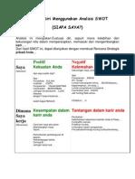 Evaluasi Diri Menggunakan Analisis SWOT JDU