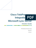 Cisco TelePresence Integration With Microsoft Lync Server Solution Guide[1]