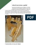 La construcción de un torno a pedal