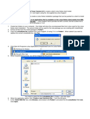 Install Shield Tuner Lotus Auto Installation PDF | Ibm Notes | Icon