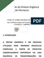 Aula de introdução de síntese orgânica de fármacos
