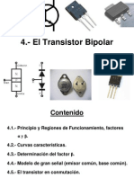 5 El Transistor Bipolar, corte saturación, optotransistor