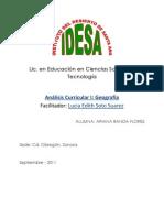 Mapa Curricular Sec Und Aria 93 y 2006
