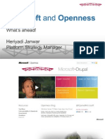 Heriyadi Janwar - Microsoft Openness