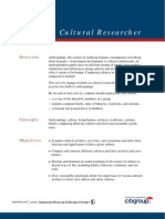 Becoming a Cultural Researcher