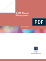 2007 Change Management Survey Report