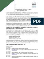 USAP 2013 Application Form