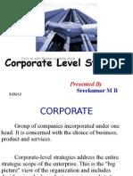 Corporate Level Strartegy
