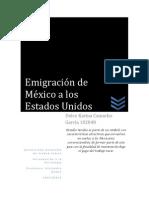 emigración de Ciudad Juárez a los Estados Unidos  Americanos