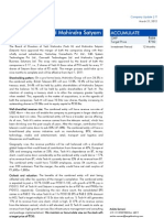 case study 3-1 the merger of tech mahindra and satyam computer services