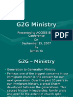 G2G Ministry Presented to ACCESS Bible Conference on September