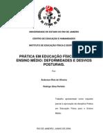 Prática em Educação Física para Ensino Médio - Deformidades e Desvios Posturais