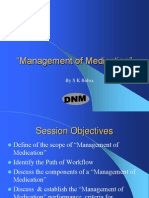 Management of Medication