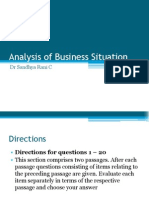 Analysis Business Situation