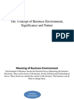 The Concept of Business Environment, Significance And