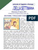 Agenda 25 Marzo 2012
