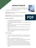 China Business Protocol
