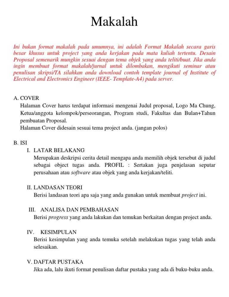 Download Contoh Makalah Doc