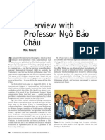 Interview With Professor Ngo Bao Chau - Neal Koblitz