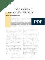 An Integrated Market and Credit Risk Portfolio Model