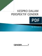 Kespro Dalam Perspektif Gender