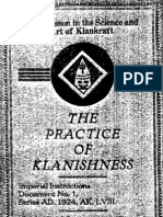 Ku Klux Klan - The Practice of Klanishness (1924)
