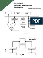 Mikroracunala Pojednostavljeni Prikaz Faze Instrukcije