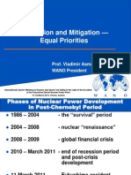 Prevention and Mitigation — Equal Priorities; Prof. Vladimir Asmolov, WANO President
