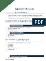 Résumé de l_introduction à la géophysique 1