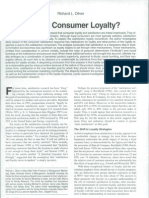 Whence Consumer Loyalty
