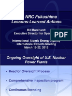 U.S. NRC Fukushima Lessons Learned - Borchardt