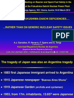 Focusing on Fukushima Daiichi Deficiencies - A.J. Gonzales, Argentina