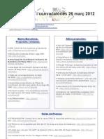 Informacións i convocatòries 26 març 2012