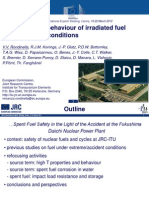 Properties and Behaviour of Irradiated Fuel Under Accident Conditions - Rondinella