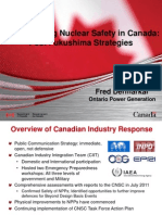 Demarkar  - Strenghtening Nuclear Safety in Canada - Post Fukushima Strategies