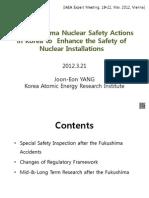 Post Fukushima Nuclear Safety Actions (Jeyang)