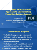 Pietrangelo Integrated Safety-Focused Approach to Implementing Fukushima Lessons Learned