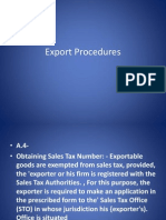 Export Procedures3.1