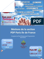 Motions Pdp Paris Idf