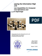 Chinese Capabilities for Computer Network Operations and Cyber Espionage