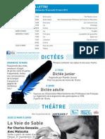 La Lettre de l'IFM Du 18 Au 22 Mars 2012