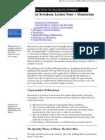 Lecture Notes -- Monetarism
