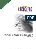 Actuate Upgrade 4 1