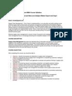 Supply Chain Syllabus