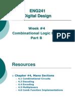 ENG241 Comb Logic Design PartB Week4