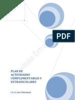 Plan de actividades extraescolares