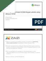 Zaizi Alfresco Solution - Building a Multi-lingual Multi-branded Websites Using Alfresco WCM